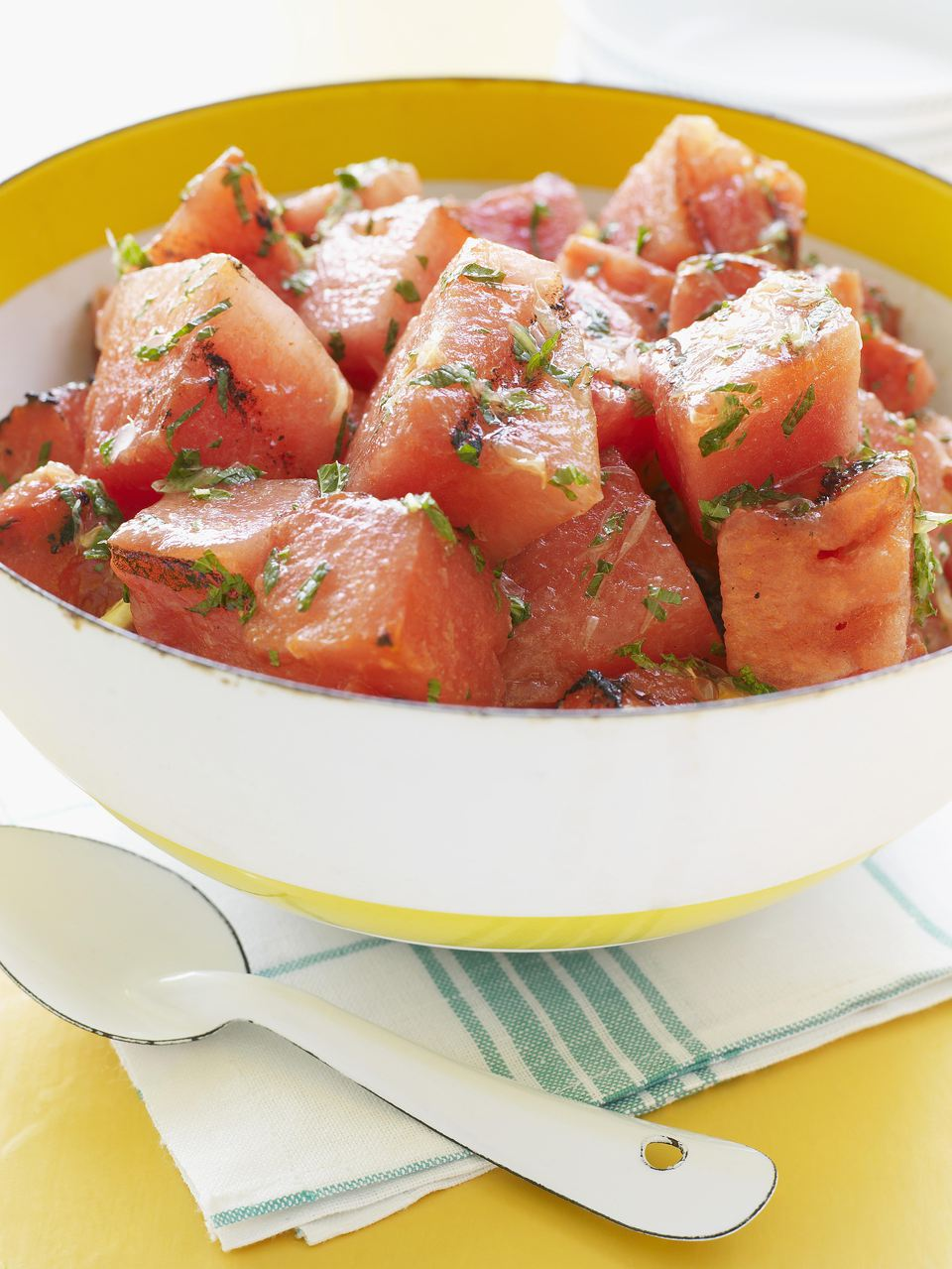 Grilled Watermelon with Mint