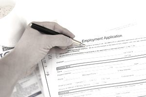 Employment application and hand