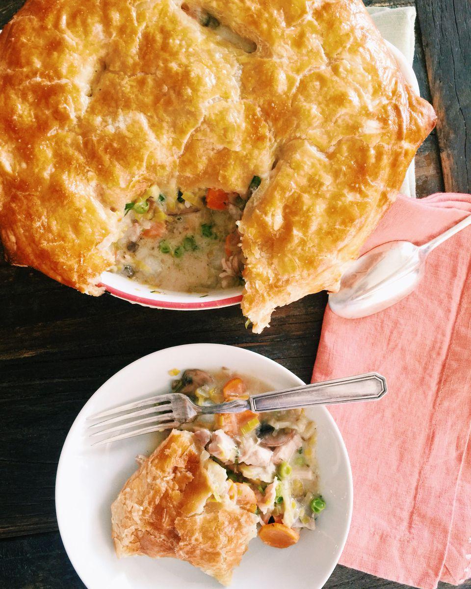 Spring Chicken and Vegetable Pot Pie Casserole