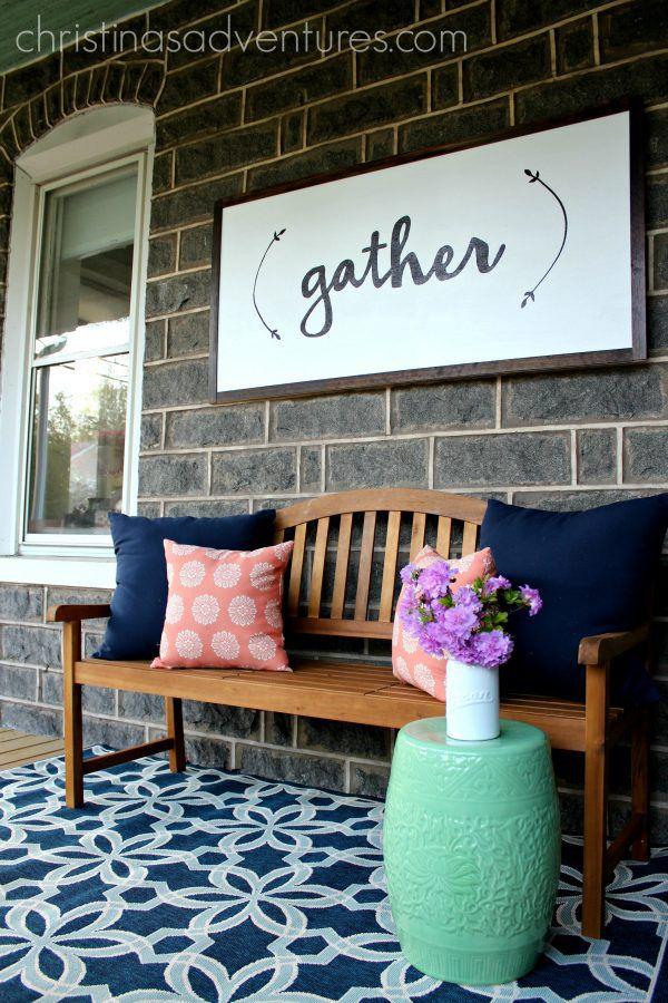21 diy outdoor decor decorating ideas outdoor decor ideas diy porch sign solutioingenieria Image collections