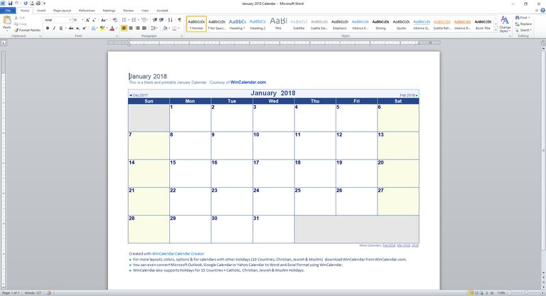 89 free calendar templates for 2018 and beyond editing a calendar template in word toneelgroepblik