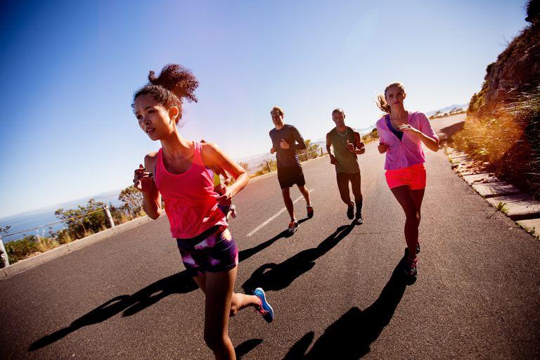 Runners training for half marathon