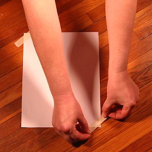 Tape Down Paper to Measure for Shoe Size