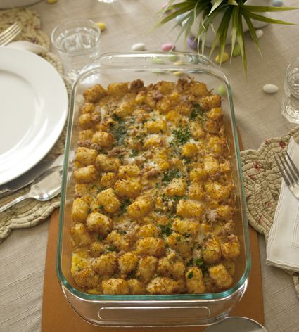 Slow Cooker or Oven Tater Tot Casserole, Recipe