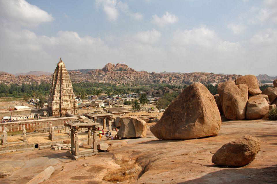 Hampi ruins in Karnataka, India.