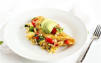 California Summer Vegetable Omelet
