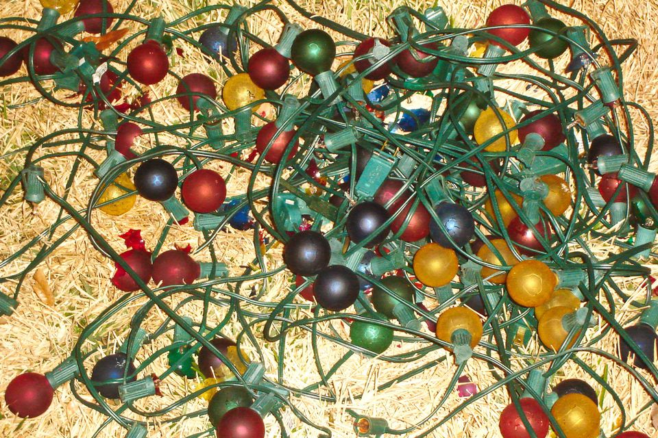 old christmas lights
