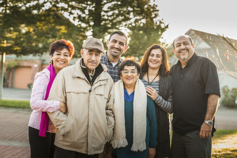 Family members ranging in age from 40 to 70.