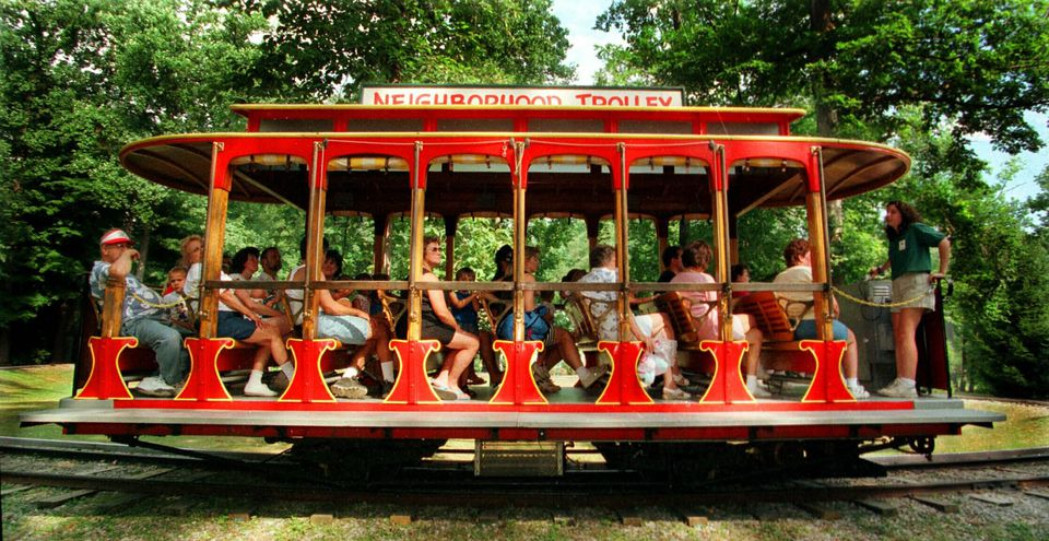 The Mr. Rogers Trolley at Idlewild.