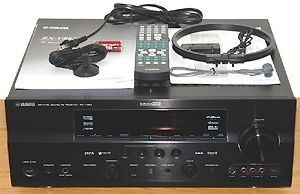 Yamaha RX-V863 7.2 Channel Home Theater Receiver - Front View w/Included Accessories