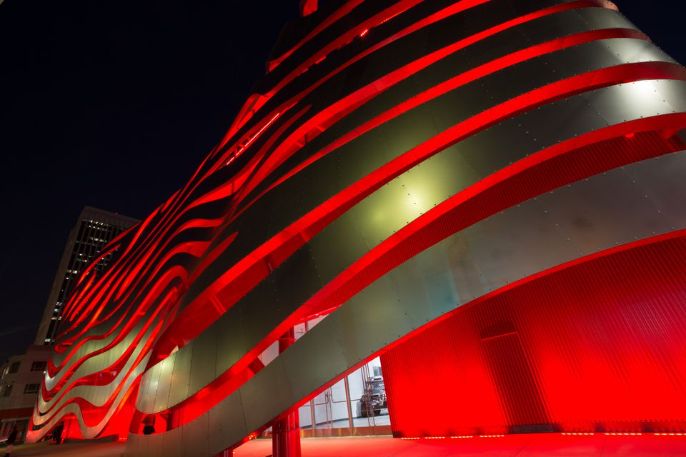 The Petersen Automotive Museum in Los Angeles