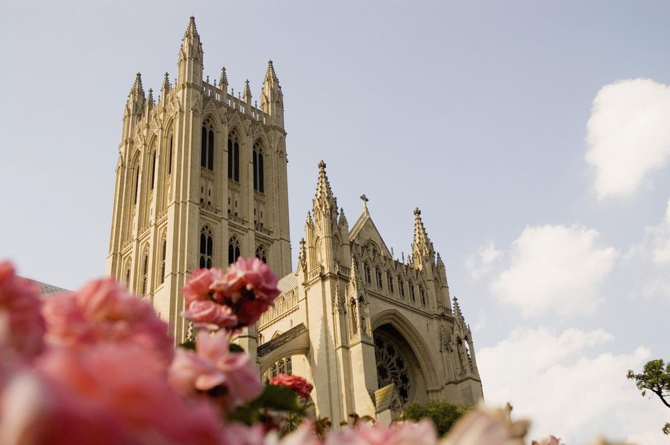 Low angle view of a cathedral, National Cathedral, Washington DC, USA