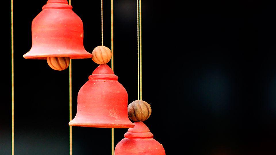 How to make ceramic Christmas bells