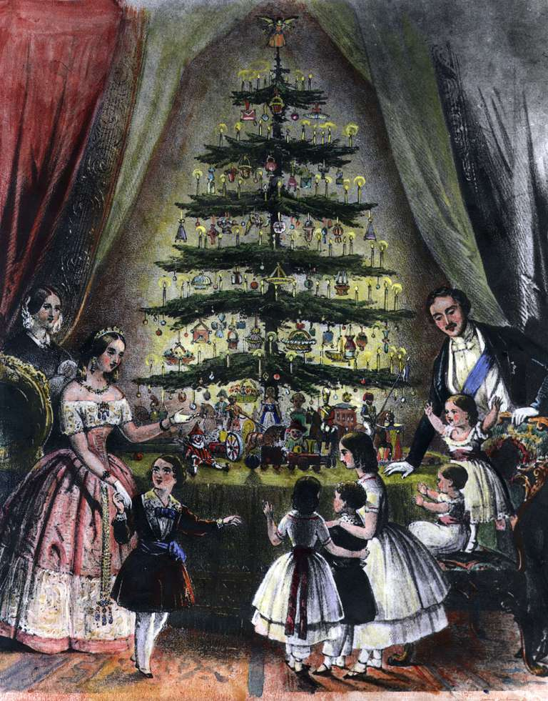 Images of where did the custom of a christmas tree began for How did the christmas tree tradition start