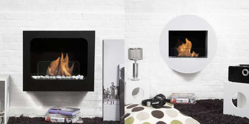 bio milan flame fireplace regal inch ethanol wall ventless p mounted fireplaces