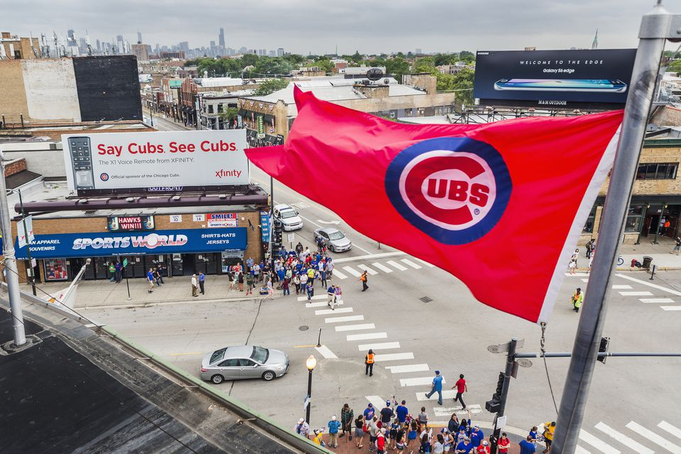 Wrigleyville, view from the Wrigley Field
