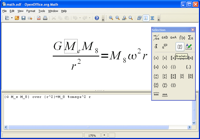 OpenOffice Math Image