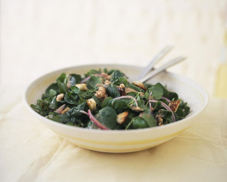 Spinach and watercress salad