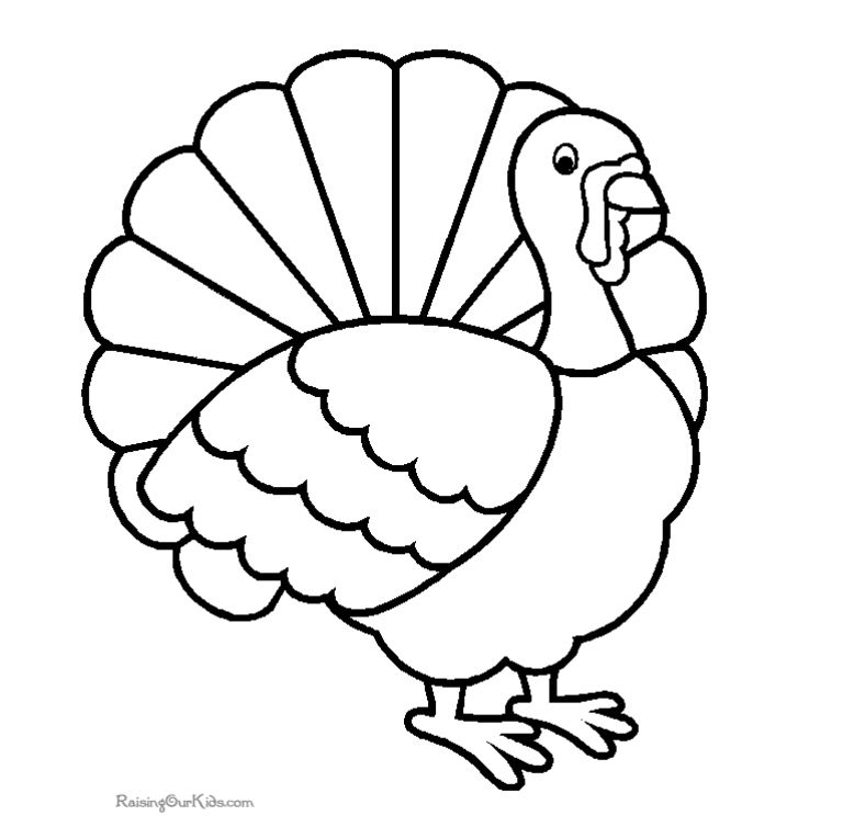 193 Free Printable Turkey Coloring Pages for the Kids