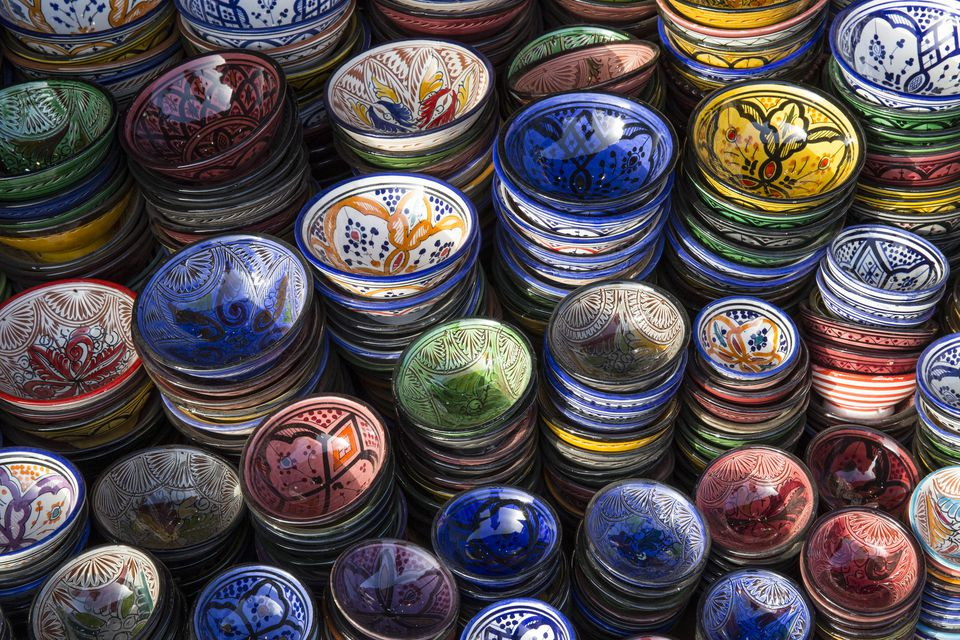 Top Tips for Souvenir Shopping in Africa Painted Bowls Marrakesh