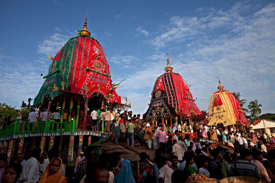 Puri Rath Yatra festival.