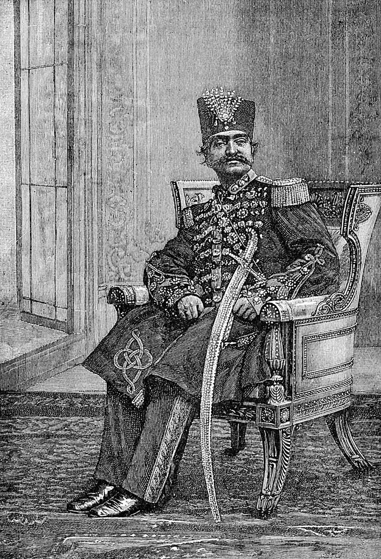 Nasser al Din Shah Qajar, ruler of Persia from 1848 to 1896.