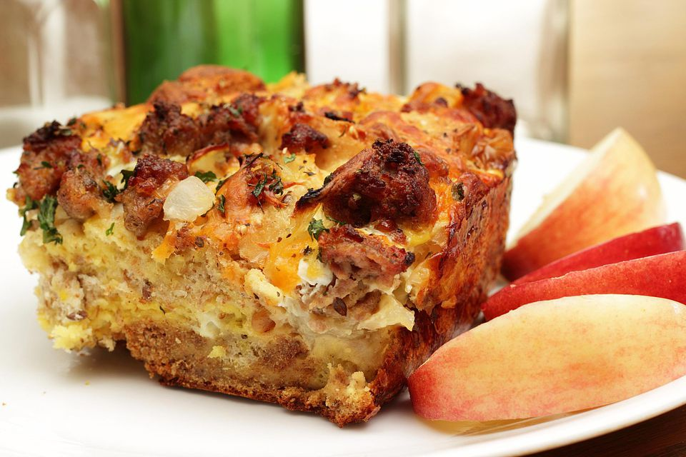 Breakfast Or Brunch Egg Casserole With Sausage