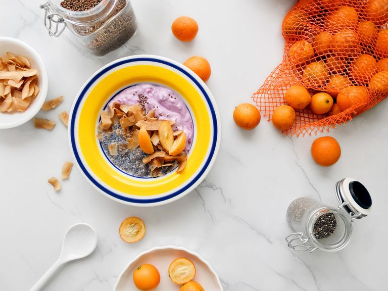 Colorful breakfast bowl