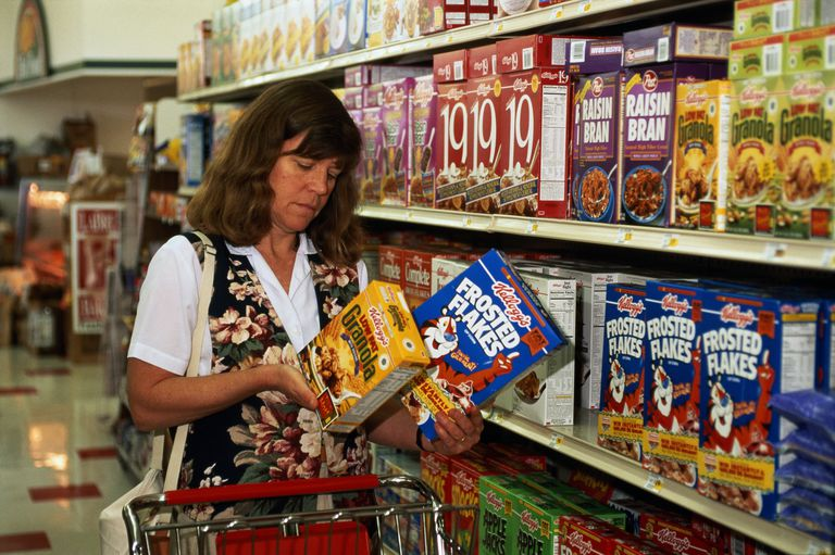 Read labels to find the healthiest cereals.