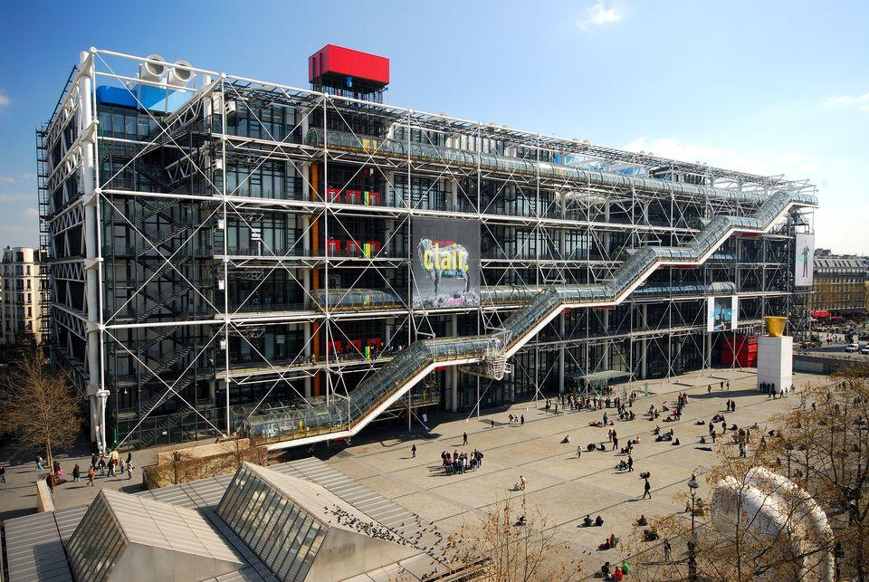 France, Paris, Centre Georges Pompidou, also called Beaubourg