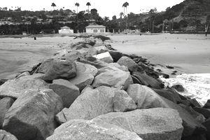 View Along Rock Groyne Towards Beach