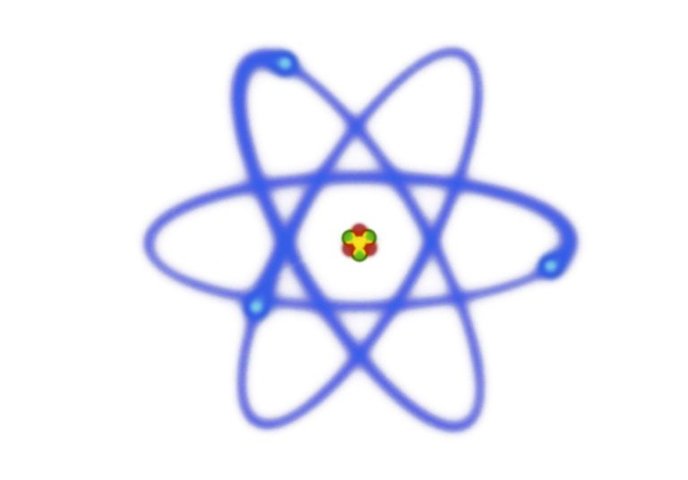 An atom must contain at least one or more protons. Most atoms also have neutrons and electrons.