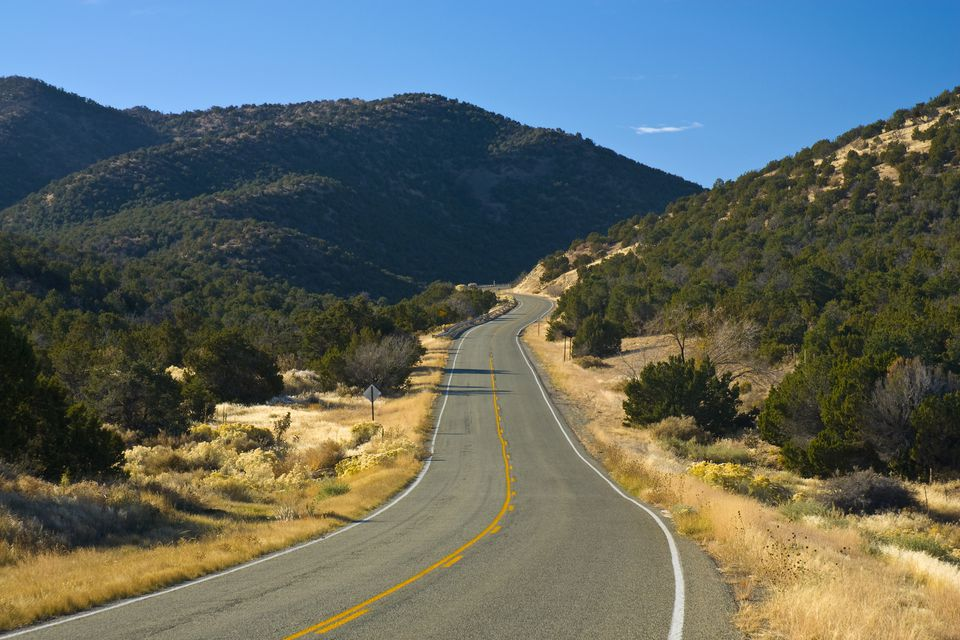 USA New Mexico. The Turquoise Trail.