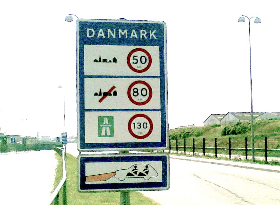 Speed Limits in Denmark