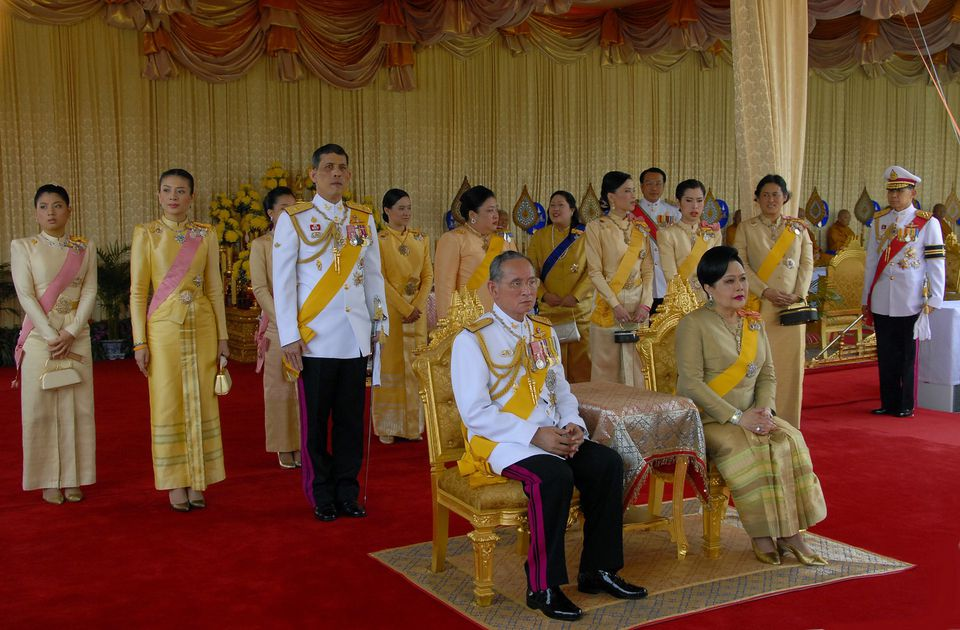 The Thai Royal Family attending a state function