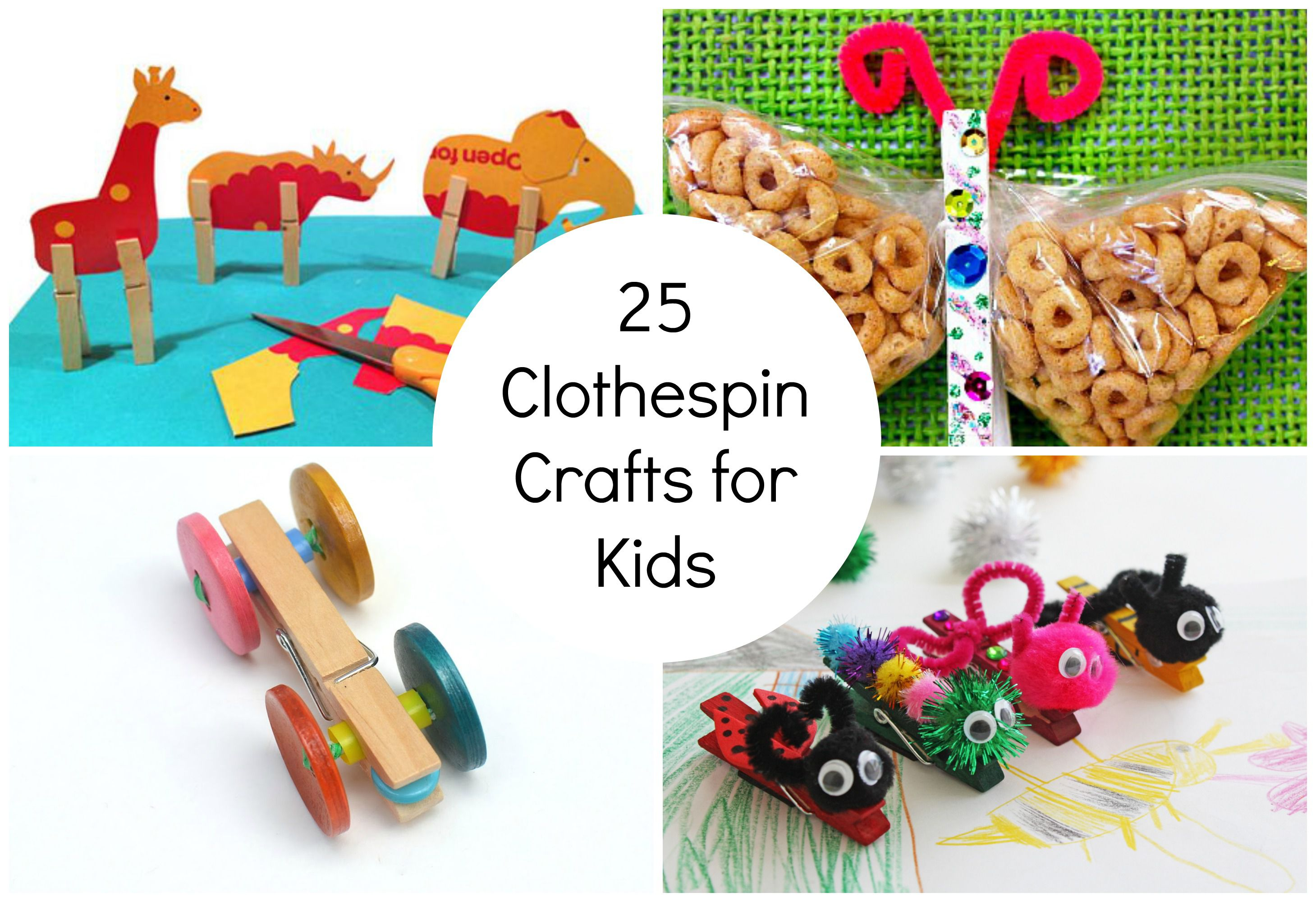 25 clothespin crafts for kids for Close pin crafts