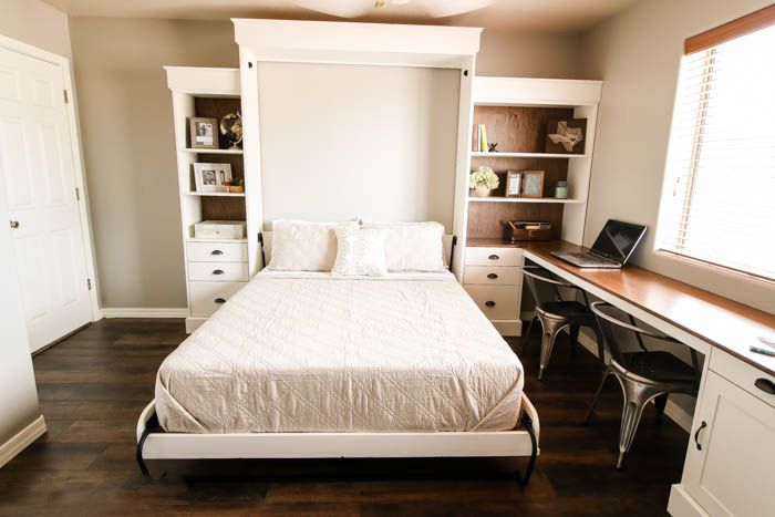 12 diy murphy bed projects for every budget diy this modern farmhouse murphy bed solutioingenieria Choice Image