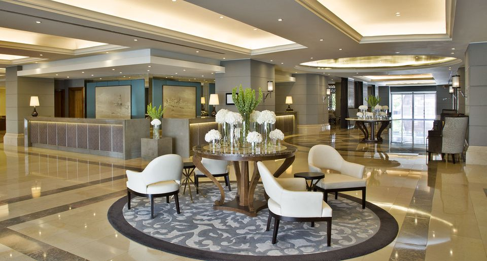 Lobby of Corinthia luxury hotel in Losbon