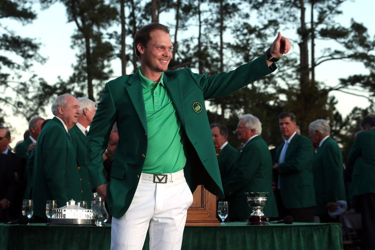 2016 Masters winner Danny Willett after receiving the Green Jacket