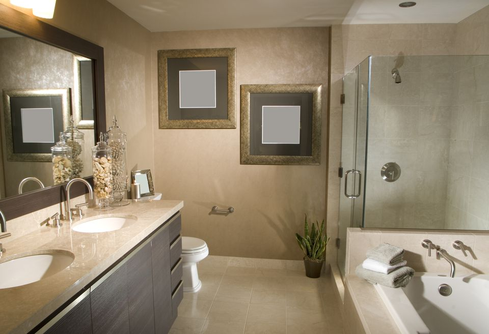 Remodeled Bathroom With Frameless Shower and Tub. Secrets of a Cheap Bathroom Remodel