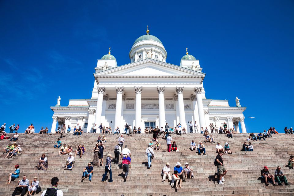 Helsinki Cathedral in city center