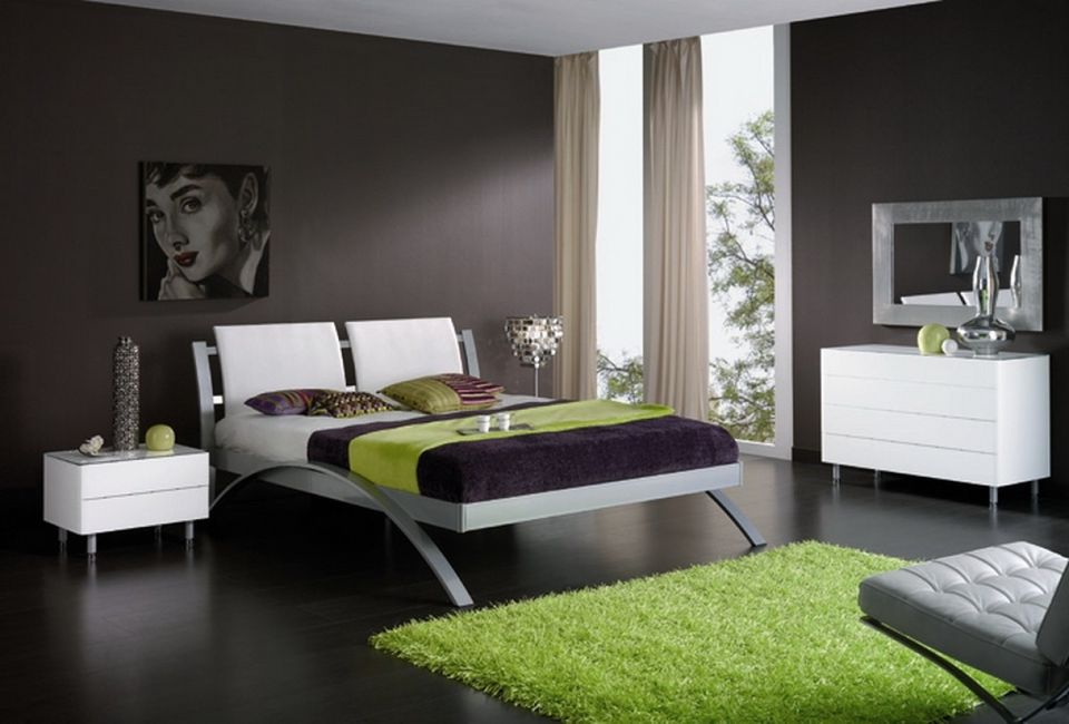 Minimalist Bedroom Design minimalist bedroom design ideas Contemporary Bedroom With Dark Brown Walls