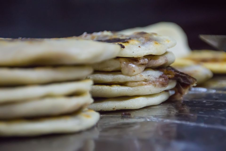 Stacks of Pupusas