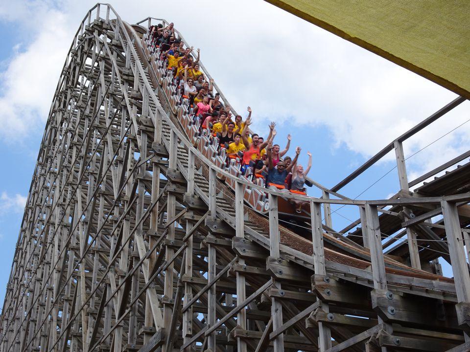 Six Flags' El Toro roller coaster