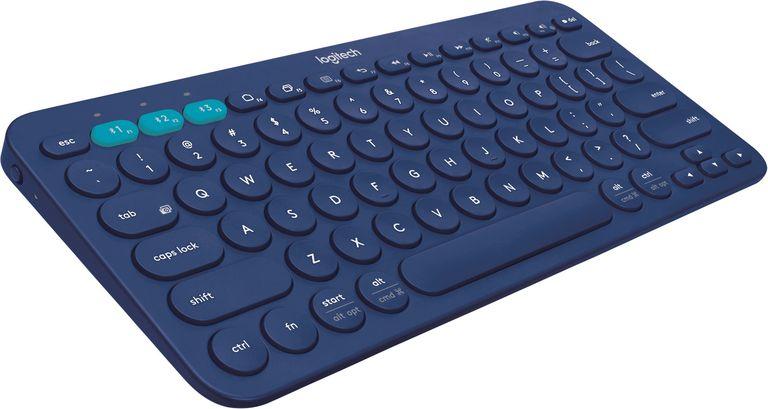 Logitech, Bluetooth keyboard, Logitech K380 keyboard BTY3 Blue