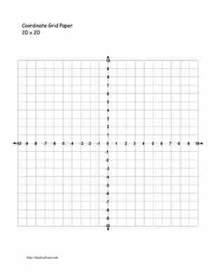 graph paper template with numbers