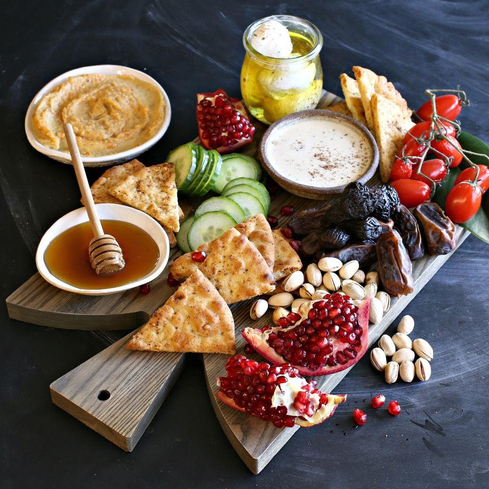 Middle Eastern Inspired Appetizer Cheese Board