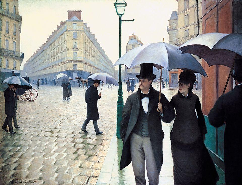 Gustave Caillebotte, 'Paris Street; Rainy Day', 1877.