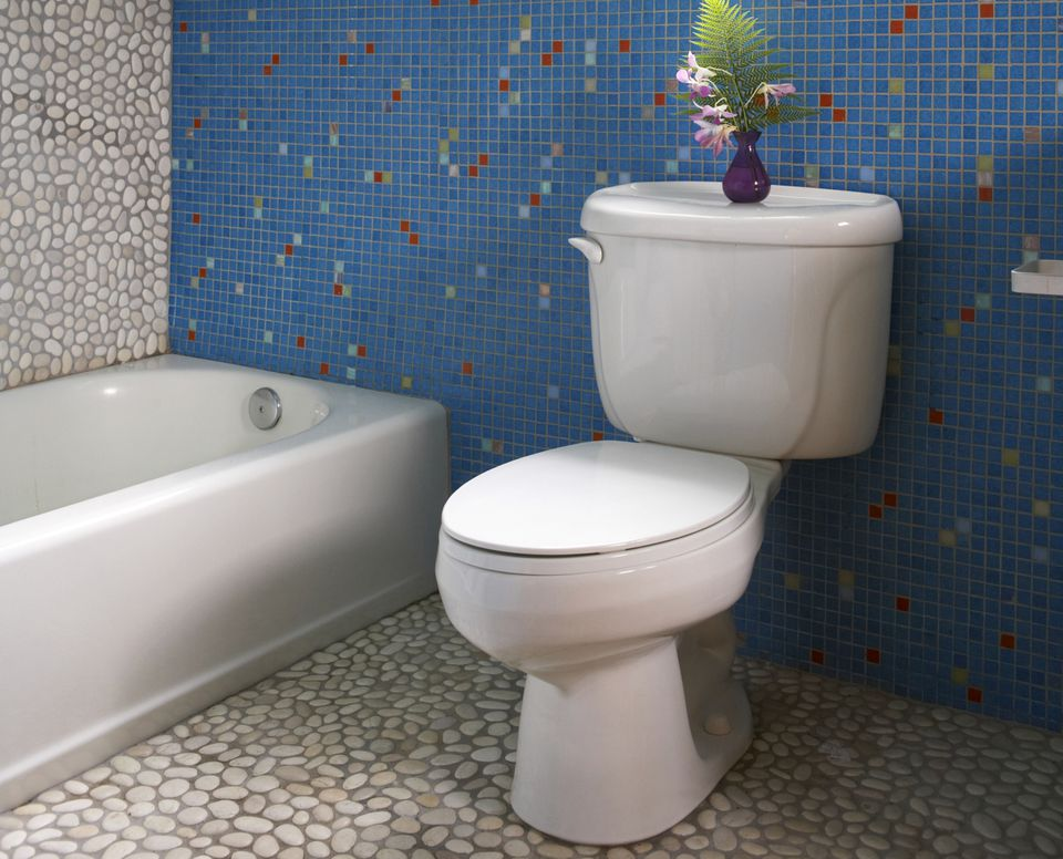 Toilet and bathtub in the bathroom. How to Repair Common Toilet Problems