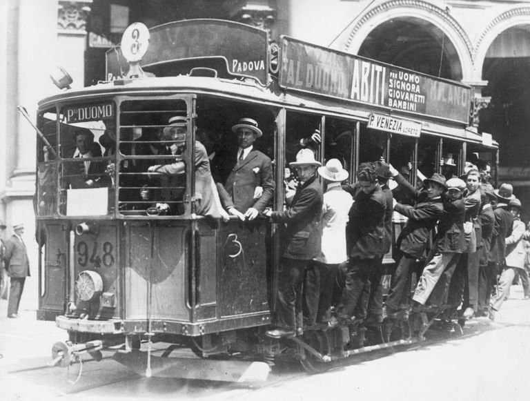 Passengers Riding a Trolley